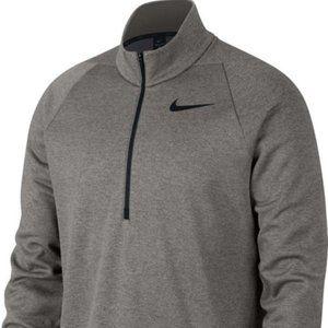 Men's Dark Grey Nike Quarter-Zip Therma Top